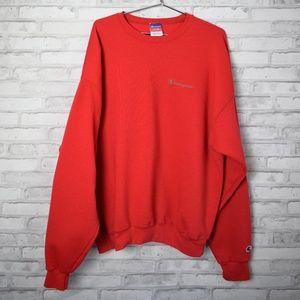 Champion Logo Fleece Pullover Sweatshirt Size 2XL
